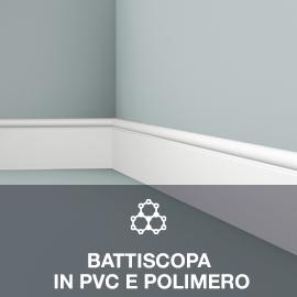 battiscopa in pvc e polimero