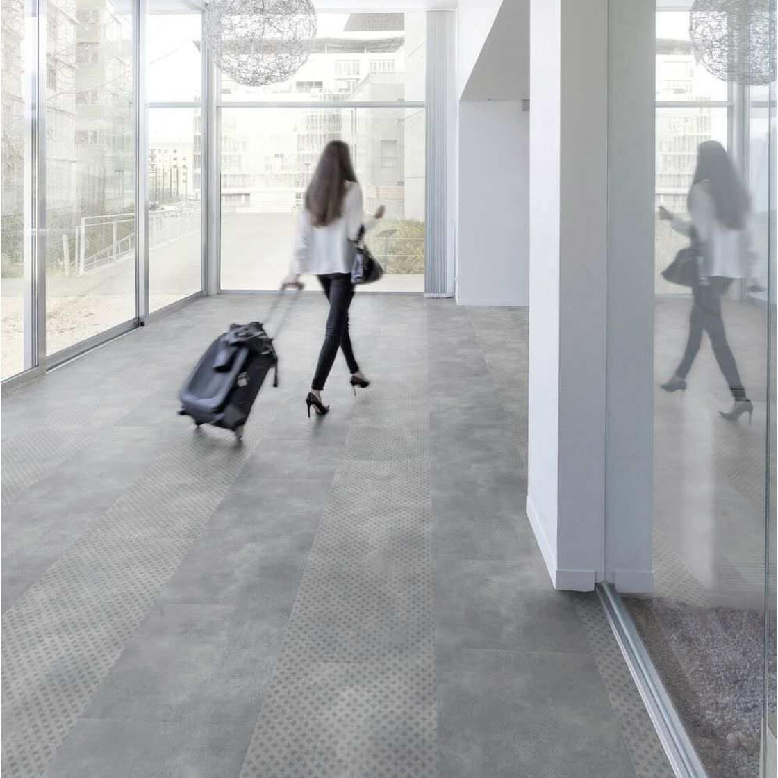 Pavimento In Cemento Prezzi pavimento pvc effetto cemento - gerflor geelong gray 0012 | rigid 55 lock  acoustic