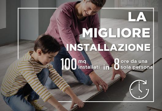 Pavimento in SPC installazione 100 mq in 8 ore