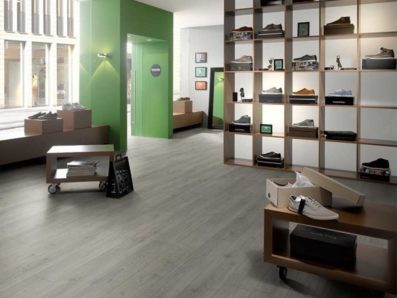 Pavimenti laminati per negozi
