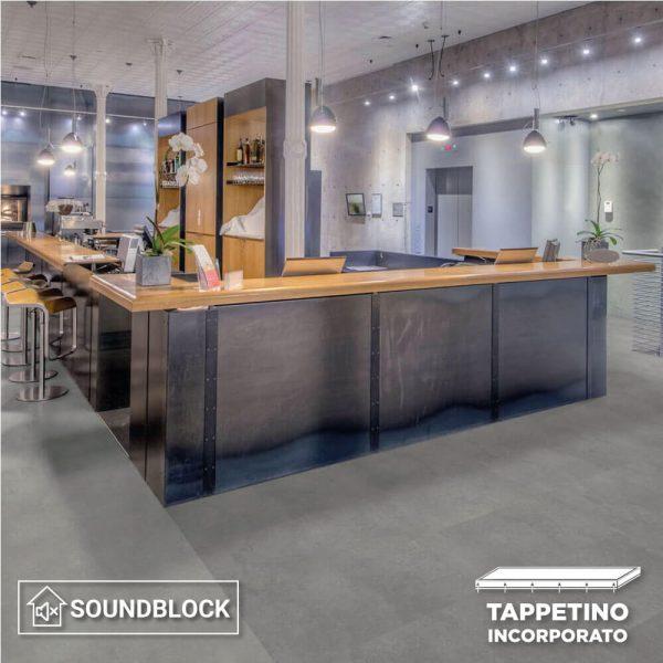 Pavimento SPC Tarkett iD Click Ultimate 55 Polished Concrete Indium