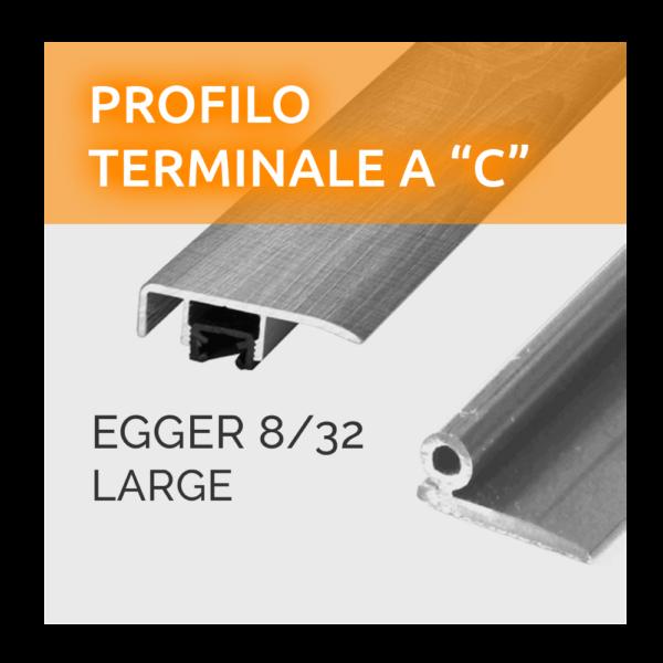 Profilo Terminale a C Paragradino Egger 8/32 Large