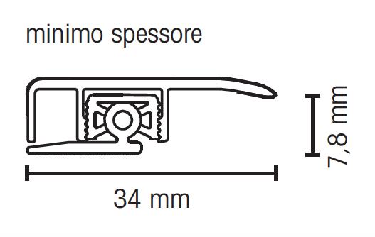 Profilo paragradino rovere western chiaro asta 2 70m - Vetrocamera spessore minimo ...