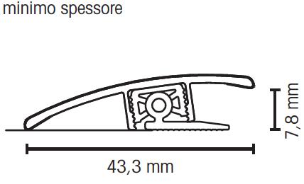 Profilo terminale a scendere rovere bardolino grigio - Vetrocamera spessore minimo ...