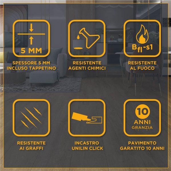 Specifiche tecniche pavimento SPC Baufloor